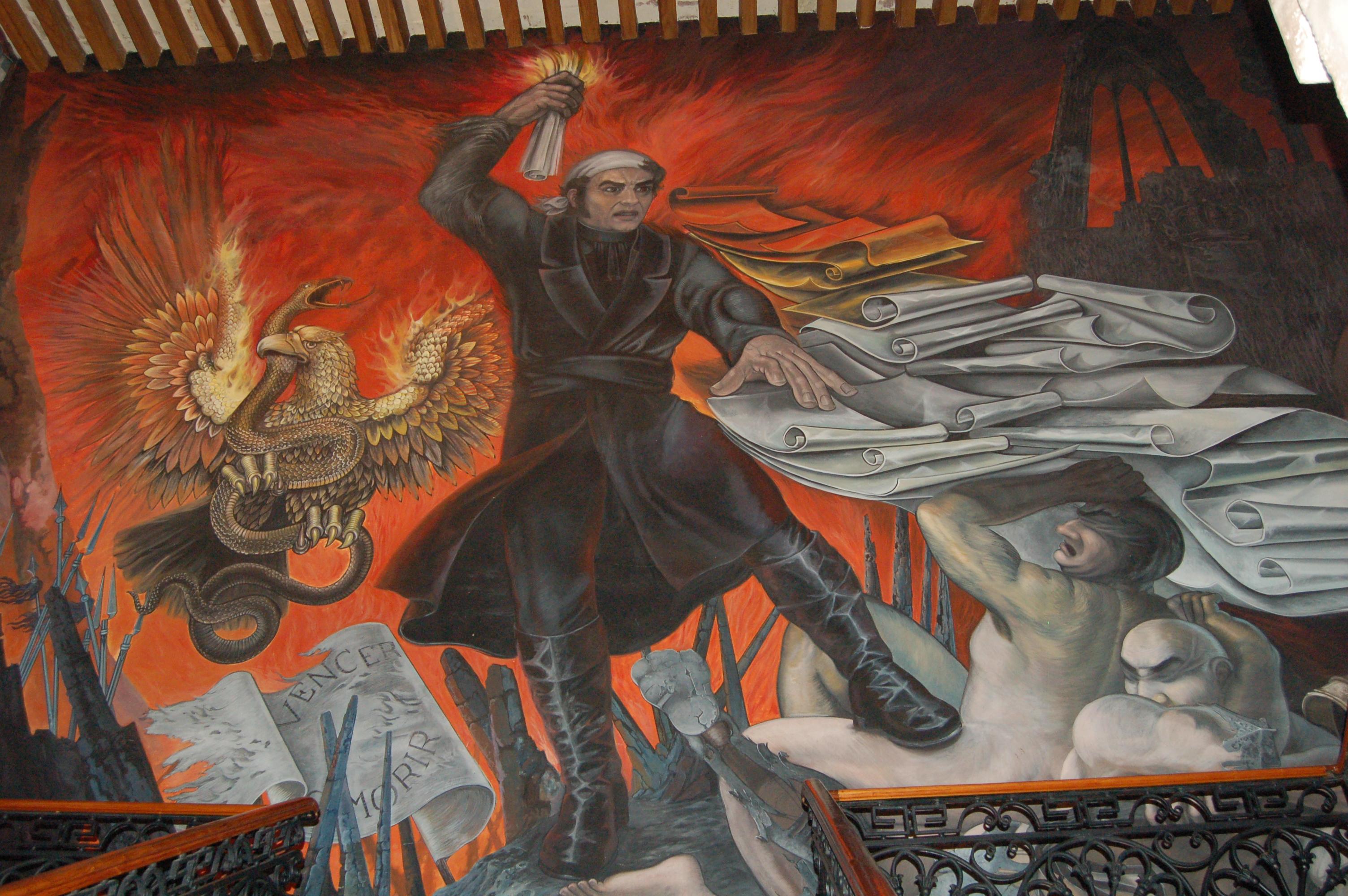 Alfredo zalce s mural of morelos a gringo in mexico for Mural mexicano