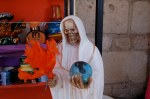 Skeleton figurine in Patzcuaro artisan shop.