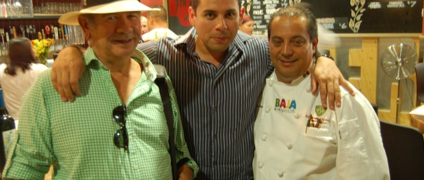 Hans Backhoff Sr., Fernando Gaxiola and Chef Martin San Roman