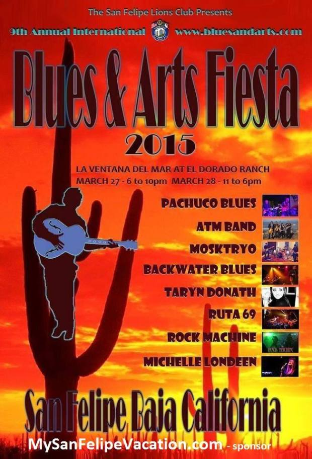 San Felipe International Blues and Arts Fiesta 2015, San Felipe, Baja California, Mexico