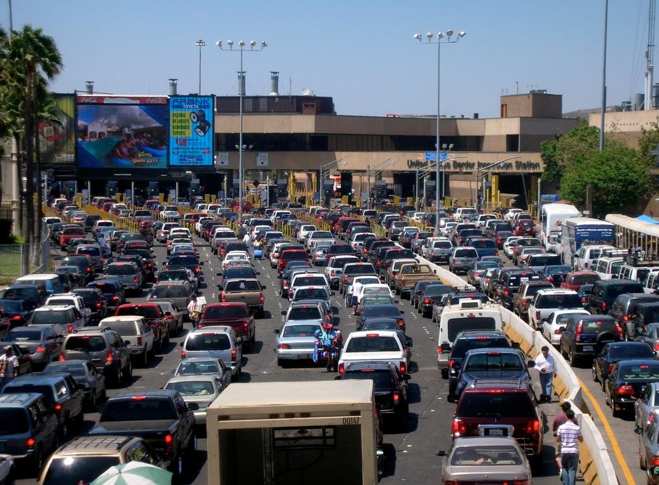 San Ysidro Border Crossing, Tijuana, San Diego, Baja California, Mexico